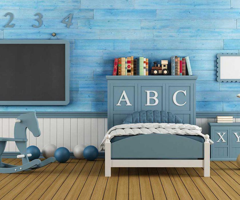 חדר ילדים - צבע תכלת